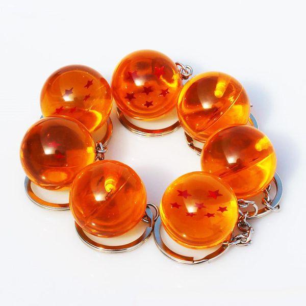 Anime Goku Dragon Ball Süper Anahtarlık 3D 1-7 Yıldız Cosplay Kristal Top anahtarlık Koleksiyonu Rakamlar Oyuncak Hediye anahtarlık Araba Hediyeler aksesuarları
