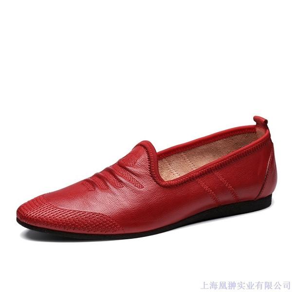 Havalandırma Yumuşak Doug Inek Derisi Rahat Düz Tabanlı Tahrik Gelgit Cgnp Enchanting2019 Erkek Ayakkabı Boş Zaman Deri Ayakkabı Ürün