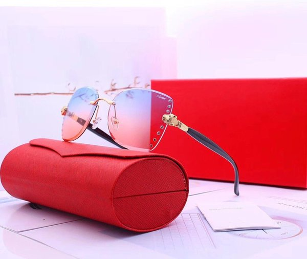 Fashion Womens Designer Sunglasses Luxury Sunglasses for Woman Designer Adumbral Glasses UV400 C0005 6 Colors Optional High Quality with Box