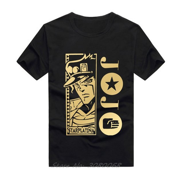 Hot Sale Bizarre Adventure T-Shirt Lustiges Design Manga Anime-T-Shirt Cool Black T-Shirt Männer Art und Weise gedruckte T-Shirt
