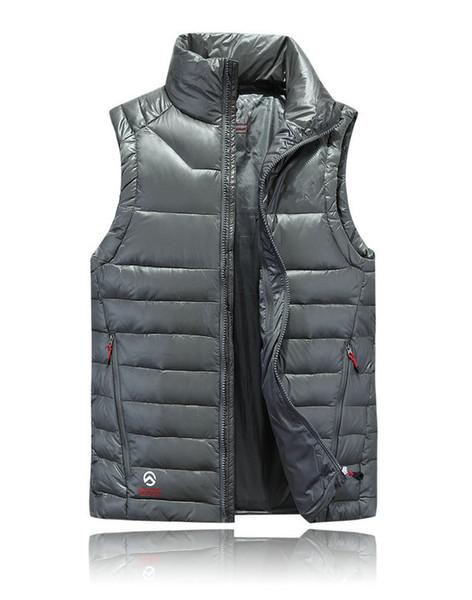 2019 Nueva marca para hombre Diseñador Down Jacket Chaqueta informal de lujo Chaleco de invierno Chaqueta cortavientos al aire libre para hombre Chaqueta sin mangas Talla M-2XL