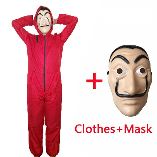 Mens Halloween Costume Movie La Casa De Papel Fashion Costumes Cosplay Clothes Party Cosplay Funny Masks