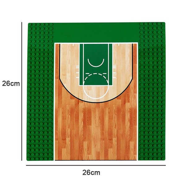 25.7*25.7cm Single Base Basketball Court Base Plate Building Block Brick Toy Baseplate For Figure Play Toys for Children