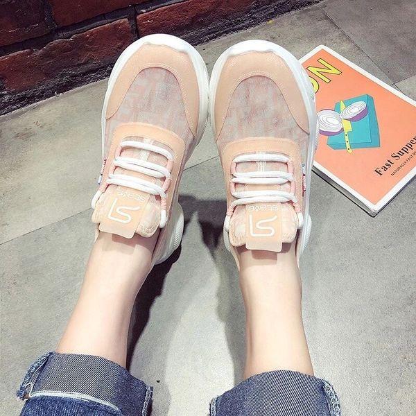 Papa mode chaussures chaussures net top baskets femmes été respirant plateforme mocassins 2019 nouvelle mode chaussures taille 35-38
