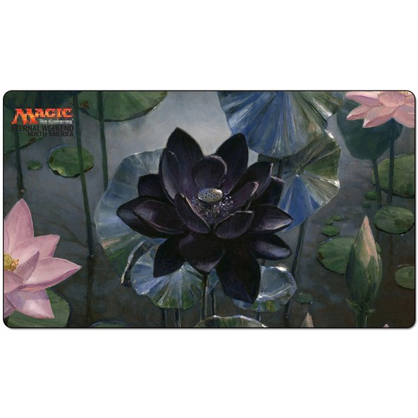 Magic Board Game Playmat:blacklotus for Eternal Week 60*35cm size Table Mat Mousepad Play Matwitch fantasy occult dark female wizard2Trial o