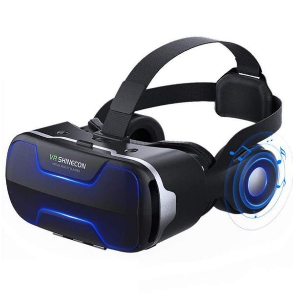VR-SHINECON 3D-VR-Brille mit Virtual Reality Große Sicht Immersive Experience mit Stereo-Kopfhörer
