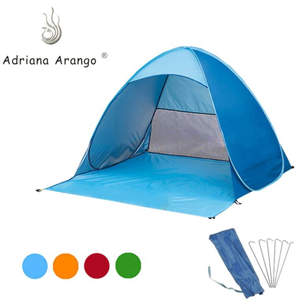 Adriana 2019 Outdoor Portable Beach Tent Camouflage Camping Tent for 2 -3 Person Single Layer Polyester Fabric 12-color