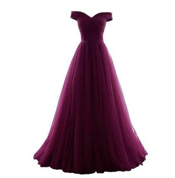 High Quality Off-Shoulder Long Bridesmaid Dresses With Ruffles Floor Length Floor-Length Wedding Guest Dresses Custom Made Lace-up Back