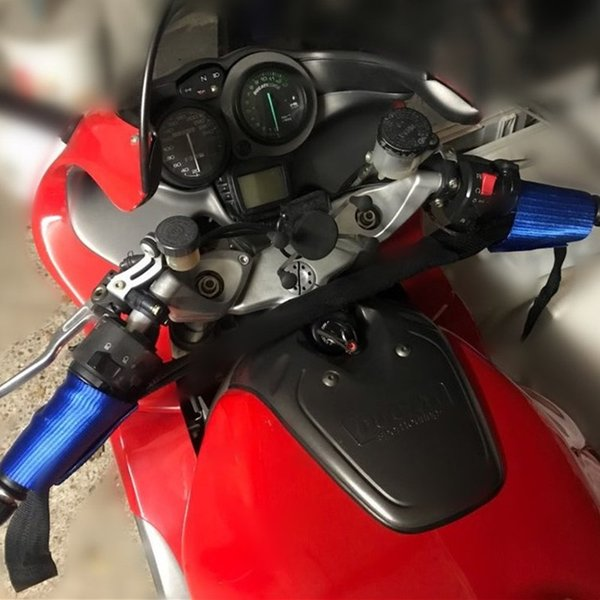 Motocicleta guiador Straps Motorbike guiador Tie Down Hassle-livre maneira de garantir rápida e fácil de usar azul e de cor vermelha