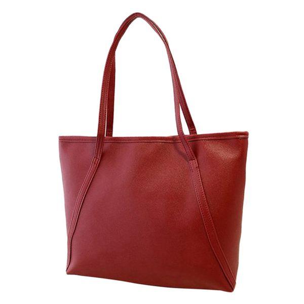 Women Solid Simple High Capacity Handbag Fashion Minimalist Office Ladies Student Book Totes SatchelShoulderBags Torebka