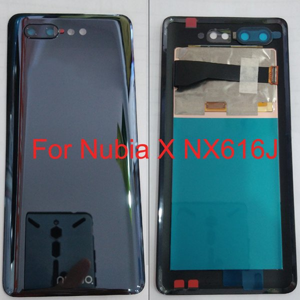 Original For Nubia X NX616J Back Cover Battery Door Housing Case LCD Touch screen Display camera glass Repair Parts NubiaX