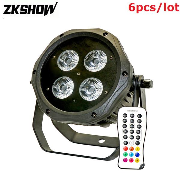 80% Off Lumiere 4*15W Battery Power Wireless DMX Par Light IP65 DMX 512 DJ Disco Stage Lighting Projector With Flightcase Free Shipping