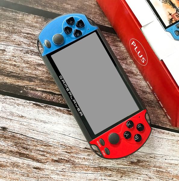 Retro Handheld Game Console 32/64/128 Bit 5,1 polegadas HD tela 8G Rom X7 mais o dobro Rocker Handheld do jogo Video Player MP5 MD SFC GBA Jogo PAP
