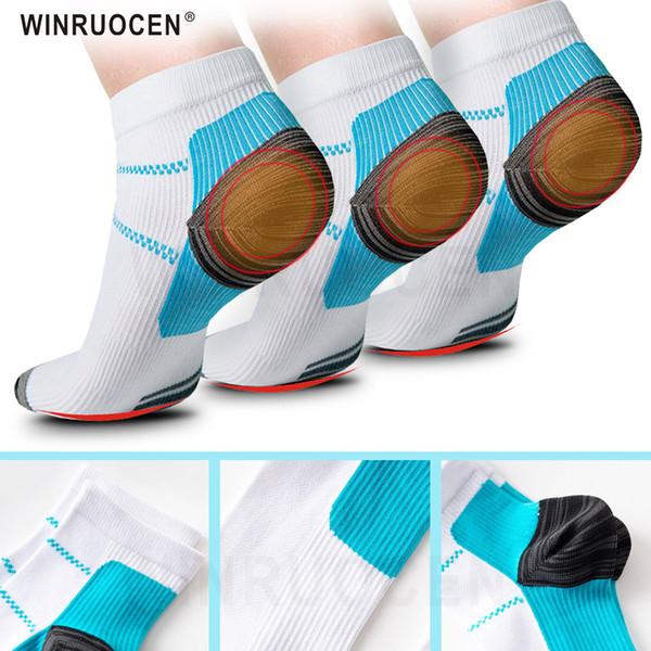 Мужчины Женщины подошвенный фасциит спорт бег носки для ног давление полета фасциит шпоры чулочно-носочные изделия пот уход за ногами бахилы