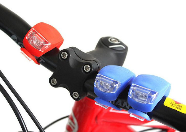 best selling 5th Cycling Lamp Silicone Bike Bicycle Cycling Head Front Rear Wheel LED Flash Bicycle Light Lamp Waterproof Lights With Battery