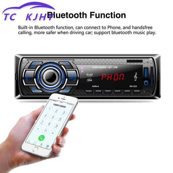Bluetooth USB Décodeurs voiture MP3 AUX adaptateur sans fil récepteur FM Radio Télécommande mains libres Carte SD DIY Module Haut-parleur