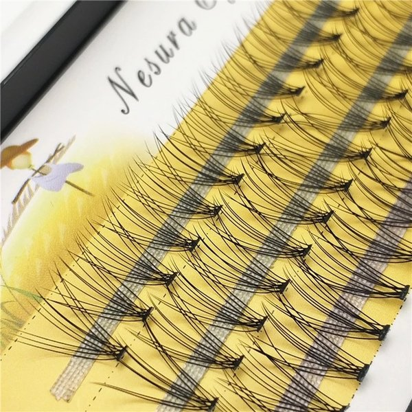 New 60 bundles Individual Cluster Eyelashes Eyelash Grafting Extensions 0.1mm Thickness 6/7/8/9/10/11/12/13/14mm for choose DHL