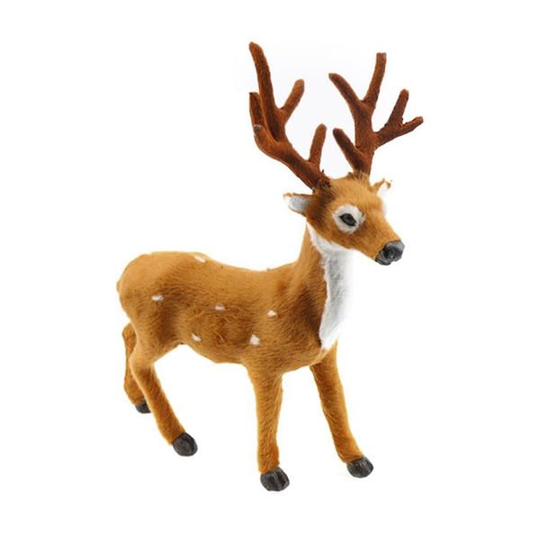 Simulación encantadora Reno Adorno de Navidad Peluche Plástico Lindo Ciervo Niños Juguete Árbol de Navidad Decoraciones para el hogar