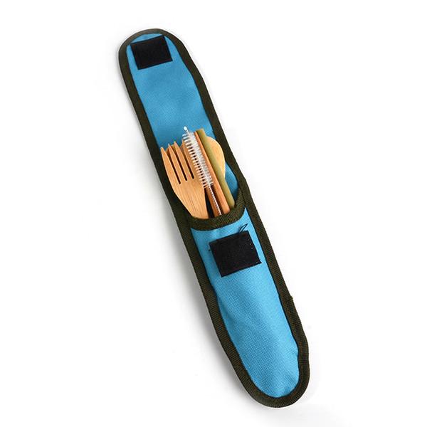 4 Couleurs Portable Couverts Outdoor bambou Couverts Sets de table Voyage couteau fourchette cuillère de vaisselle 60 Sets DHL