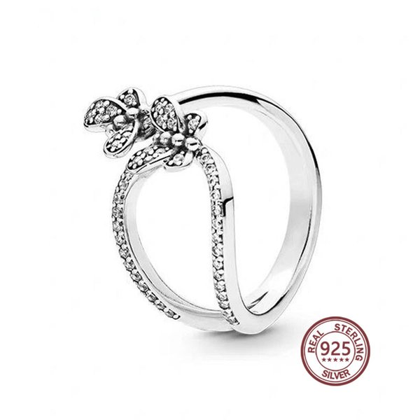 Creative Butterfly Ring 197920CZ with zirconia good quality original hand jewerly pan for women gift