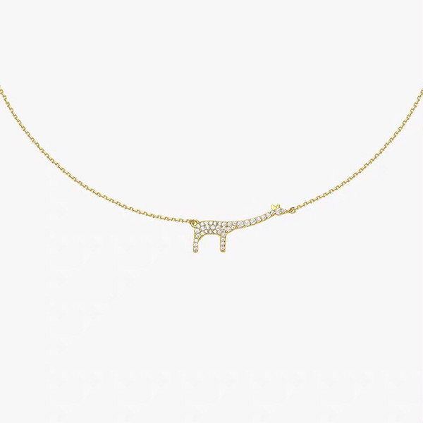 Necklaces for women giraffe necklace 925 sterling silver female simple clavicle in pendant necklace 2019 new fashion