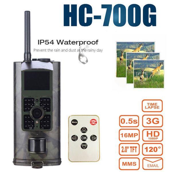 HC700G Jagd Kamera 3G HD 16MP Scouting Game Trail Kamera 3G GPRS MMS SMTP SMS 1080P Nachtsicht 940nm Fotofallen