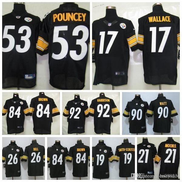 reputable site ead1b 0ee7f 2019 Men Pittsburgh Steelers Jersey 84 Antonio Brown 90 T.J. Watt 19 Juju  Smith Schuster 43 Popamalu 26 Le'Veon Bell 7 Roethlisberger Jersey From ...