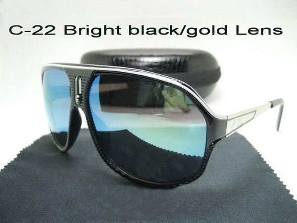 C-22 Bright Black / Gold Lens