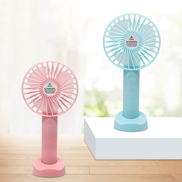 top popular Handheld Fan Portable Mini Hand Held Fan with USB Rechargeable 3 Level Speed in Bag Travel 2021