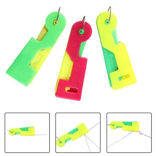 1000Pcs Random Color Elderly Convenient Use Automatic Easy Sewing Needle Device Threader Thread Guide Tool For Older