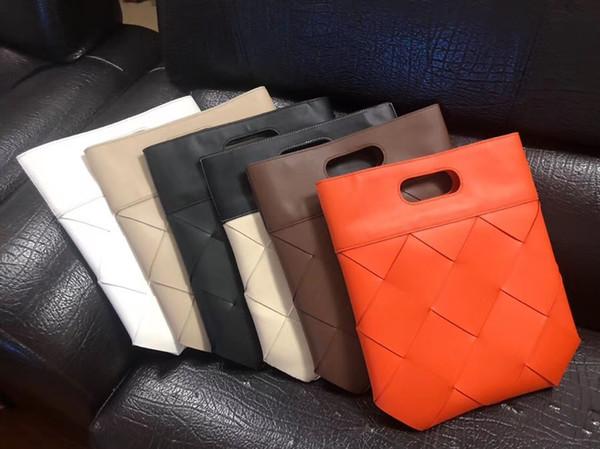 El nuevo bolso clásico 2019 bolsa de azúcar procedente de 7 estrellas del diseñador al por mayor de cuero genuino de piel de cordero suave de doble cara maxi bolso de la manera de la armadura mano
