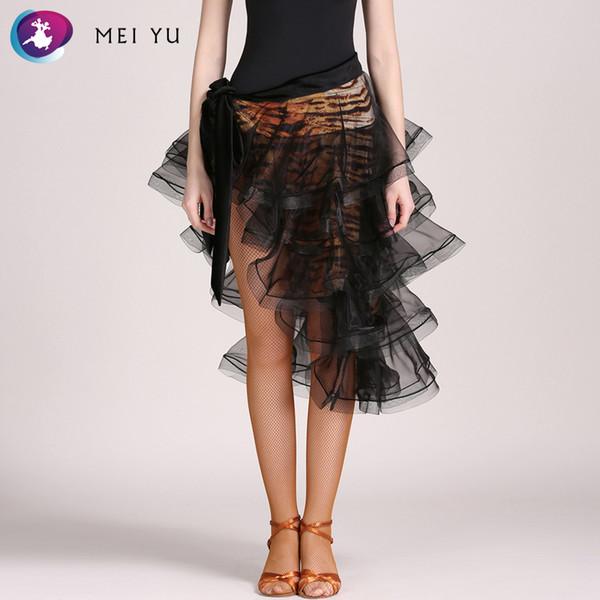 MEI YU GB039 jupe de danse latine Rumba Cha Cha costume de salle de bal femmes Lady adulte vêtements de soirée robe de soirée jupe