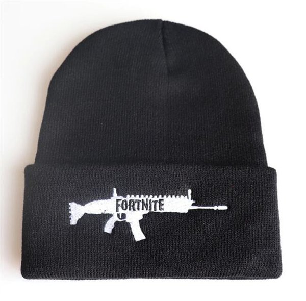 Fortnite Game AK Gun Hat Winter Warm Beanie Hip hop Outdoor Skate Caps & Hats For Kids Boys Girls Adults 4 Styles Free Shipping