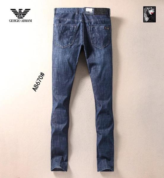 2019 Verão New Man Up Jeans Lavar Na Cintura Pequena Calças De Pé Em Linha Reta 12032