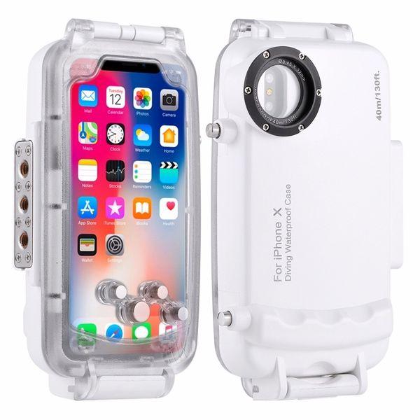 Haweel For Iphone X / Xs Diving Case 40m/130ft Waterproof Housing Photo Video Taking Underwater Cover Snorkeling Case Shockproof J190702