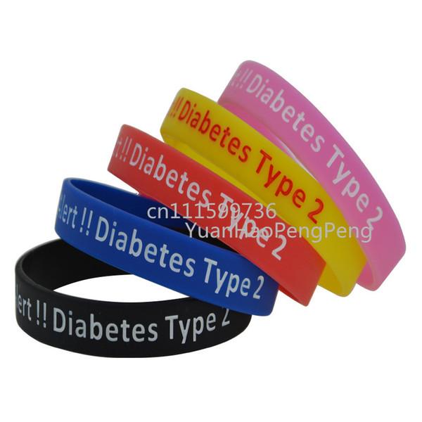 Pulsera de alerta médica 100pcs / Lot para pulsera de silicona diabética tipo caso de emergencia 2