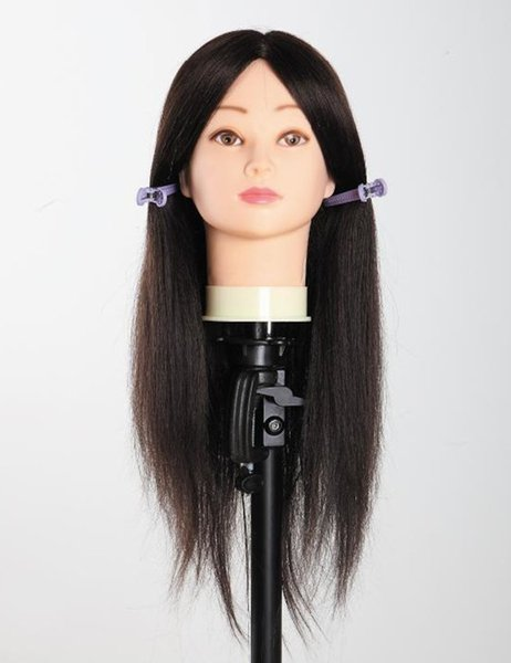 All manufacturers customized human hair animal learning school real hair wig has Haircut head hair model