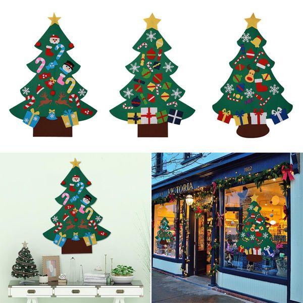 DIY рождественской елки Подвеска падения украшения двери Гобелен Xmas украшения Новый год подарок для детей Детские Развивающие игрушки