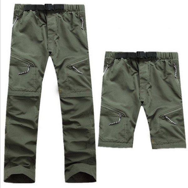 Quick Dry Men's Outdoor Hiking Pants Detachable Shorts Breathable Quick Dry Trekking Camping Trousers Hiking Pants S-XXXL