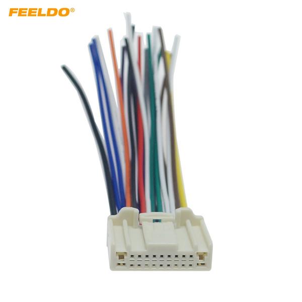 2019 FEELDO Car 20Pin Stereo Wiring Harness Adapter For Nissan/Subaru/Infiniti on