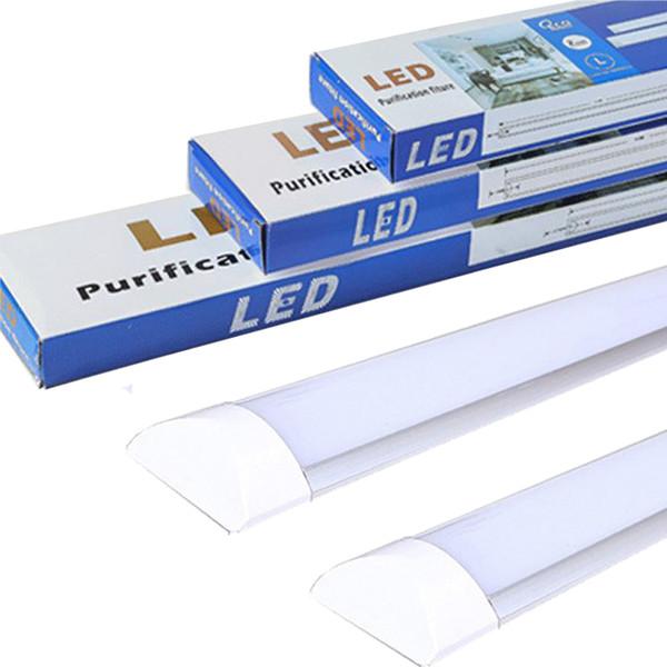 LED Batten Light Tube Plafonnier LED avec éclairement de forte luminosité pour le bureau Salon Salle de bains Cuisine Garage Entrepôt