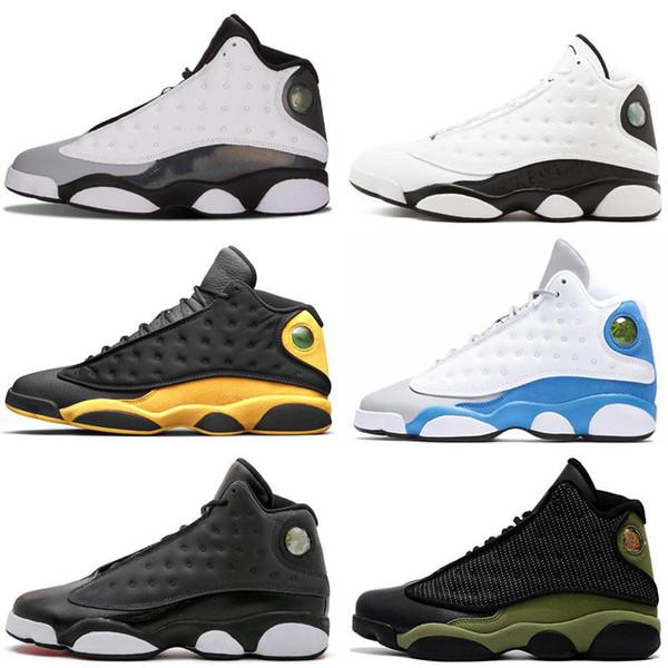 Nike Air Jordan 13 Großhandel Herren 13 Basketball Schuhe Neue Farbe Weiß Rot Team Rot Hoyas Chicago Herren Schuhe XIII Sport Turnschuhe