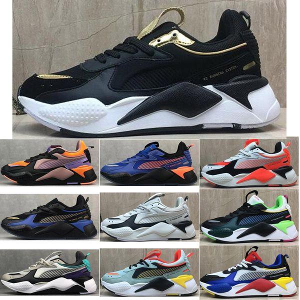 Puma 2019 RS-X Reinvención Hombre casual zapatos al aire libre Negro blanco Moda Creepers papá alta calidad hombres mujeres entrenador zapatillas de deporte de la comodidad