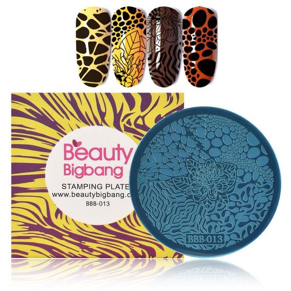 1 Unid BeautyBigBang Plantilla de Uñas Redondas Flor de Leopardo Estampación de Placa Imagen de Acero Inoxidable DIY Herramienta de Uñas Envío De China