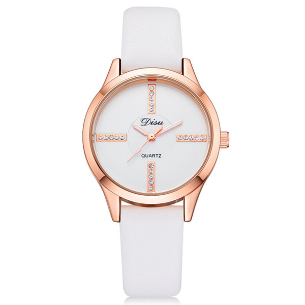 2019 New Design Women Leather Simple Business Fashion Quartz Wrist Watch reloj mujer Horloges Uhren Damen clock