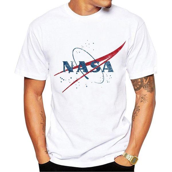 2019 Nova NASA Camisas Dos Homens Camisetas NASA Mens Designer T Camisas de Moda Das Mulheres Dos Homens Camisas Tees Tamanho S-XXL