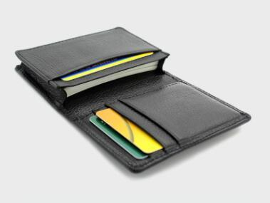 wholesale 100% First Layer Cowhide Genuine ID Card Holder Men Credit Card Case Leather Business Card Wallets Purse