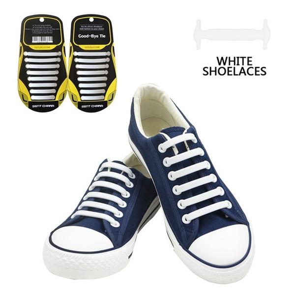 16 Adet / takım Yaratıcı Silikon Hiçbir Kravat Ayakabı Moda Trendsetter Ayakabı Elastik Ayakkabı Danteller