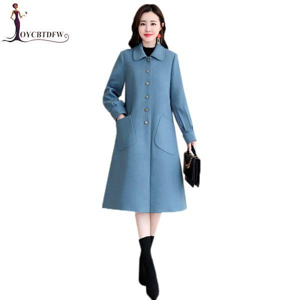 Woolen Coats Female Long Jacket 2018 Autumn Winter New Outerwear Korean Large size Loose Cape Type Wool Jacket Coat Women XY806