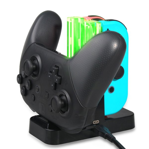Yoteen For Nintendo Switch Joy-Con Charger 4 in 1 USB Charging Dock Stand For Pro Controller